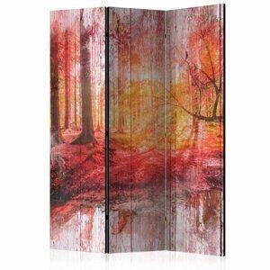 Paraván Autumnal Forest Dekorhome 135x172 cm (3-dielny)