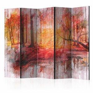 Paraván Autumnal Forest Dekorhome 225x172 cm (5-dielny)