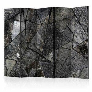 Paraván Pavement Tiles (Grey) Dekorhome 225x172 cm (5-dielny)