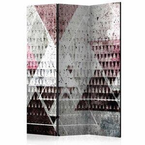 Paraván Triangles Dekorhome 135x172 cm (3-dielny)