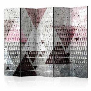 Paraván Triangles Dekorhome 225x172 cm (5-dielny)