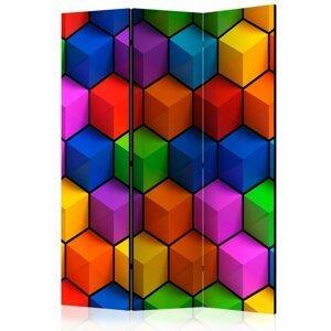 Paraván Colorful Geometric Boxes Dekorhome 135x172 cm (3-dielny)