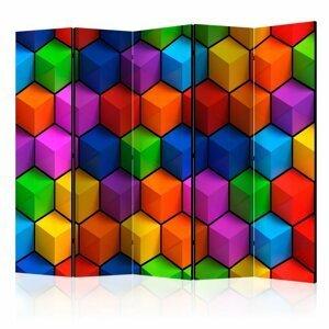 Paraván Colorful Geometric Boxes Dekorhome 225x172 cm (5-dielny)