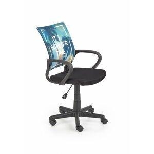 Detská stolička HANOI modrá / čierna Halmar