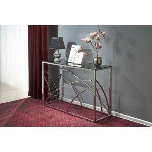 Konzolový stolík KN5 chróm / sklo Halmar