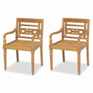Teaková záhradné stoličky BATAVIA 2 ks hnedá