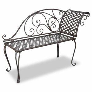 Záhradné ležadlo kov s patinou Dekorhome Hnedá