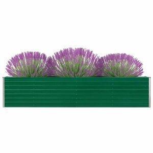 Záhradný kvetináč pozinkovaná oceľ 320x40x45 cm Dekorhome Zelená