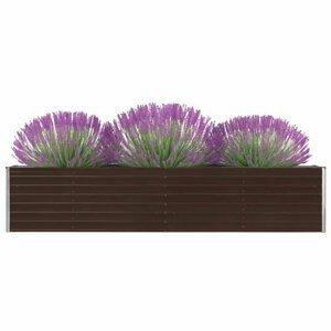 Záhradný kvetináč pozinkovaná oceľ 320x40x45 cm Dekorhome Hnedá