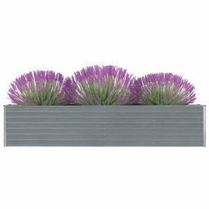 Záhradný kvetináč pozinkovaná oceľ 320x40x45 cm Dekorhome Sivá