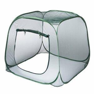 Rychlerozkládací fóliovník 100x100 cm Dekorhome Zelená