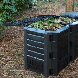 Záhradný kompostér 1200l čierny Dekorhome