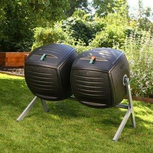 Dvojitý rotačný kompostér 380lm Dekorhome