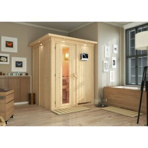 Interiérová fínska sauna 151 x 151 cm Dekorhome