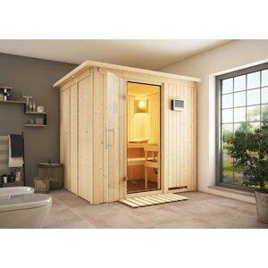 Interiérová fínska sauna 196 x 170 cm Dekorhome