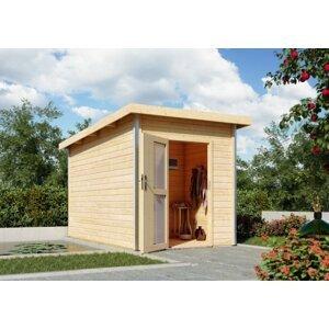 Vonkajšia fínska sauna s predsieňou 196 x 363 cm Dekorhome