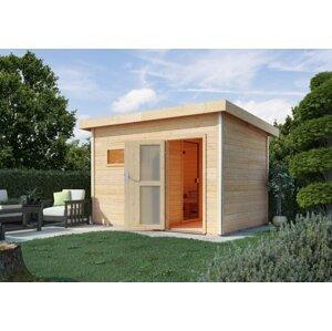 Vonkajšia fínska sauna s predsieňou 393 x 231 cm Dekorhome