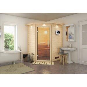 Interiérová fínska sauna 146 x 146 cm Dekorhome