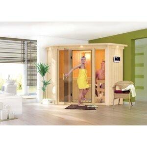 Interiérová fínska sauna 210 x 210 cm Dekorhome