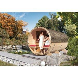 Vonkajšia fínska sudové sauna 216 x 400 cm Dekorhome