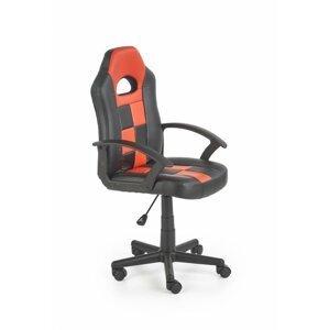 Detská stolička STORM čierna / červená Halmar