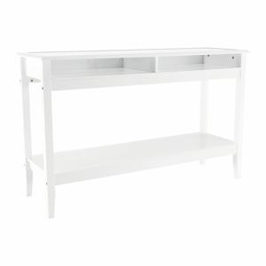 Konzolový stolík FARUS biela / sklo Tempo Kondela