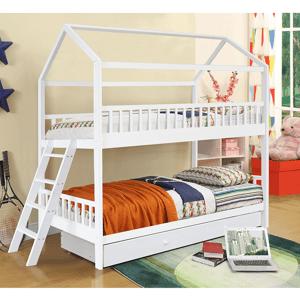 Detská poschodová posteľ EVALIA biela Tempo Kondela