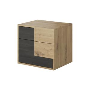 Nočný stolík BAFRA dub artisan / čierna borovica nórska Tempo Kondela