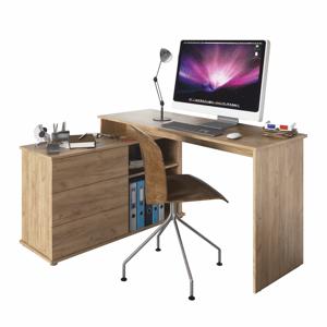 Rohový PC stôl TERINO Tempo Kondela Dub