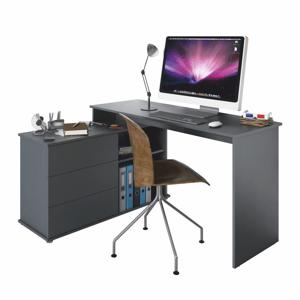 Rohový PC stôl TERINO Tempo Kondela Grafit