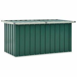 Záhradný úložný box 129x67x65 cm oceľ Dekorhome Zelená