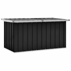 Záhradný úložný box 129x67x65 cm oceľ Dekorhome Antracit
