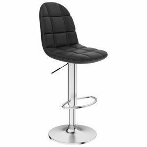 Barová stolička umelá koža / chróm Dekorhome Čierna