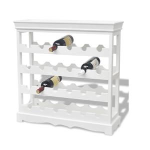 Stojan na víno MDF Dekorhome Biela