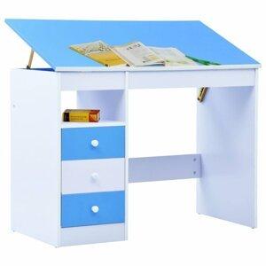 Detský písací stôl náklopný Dekorhome Modrá