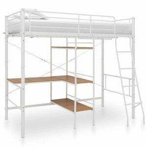 Viacúčelová posteľ 90x200 cm kov Dekorhome Biela
