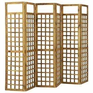 Paravan akáciové drevo / treláž Dekorhome 240x170 cm (6-dielny)
