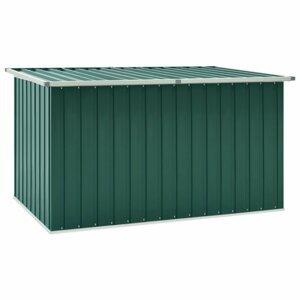 Záhradný úložný box 171x99x93 cm oceľ Dekorhome Zelená
