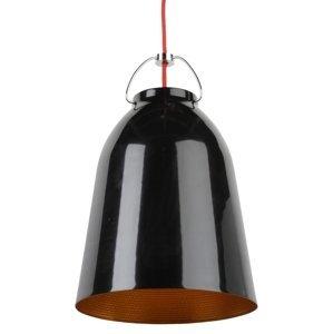 Luster - LAMPA ZÁVESNÁ Cloche 40 HLINÍK / ČIERNA-ZLATÁ