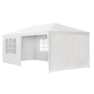 Eshopist Záhradný stan 3x6m s bočnými stenami v bielom