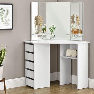 """Eshopist Toaletný stolík """"Nova"""" biely so zrkadlom, bez taburetky"""