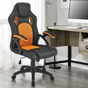 Eshopist Koliesková kancelárska stolička Montreal (oranžová)