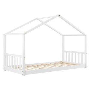 Eshopist Detská posteľ Paulina 90 x 200 cm s latovým roštom bielej farby