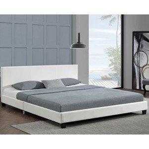 """Eshopist Čalúnená posteľ ,,Barcelona"""" 140 x 200 cm - biela"""