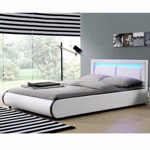 """Eshopist Čalúnená posteľ ,, Murcia"""" 180 x 200 cm - biela"""