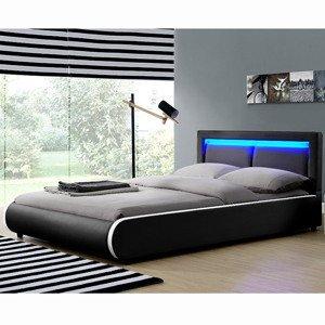 """Eshopist Čalúnená posteľ ,, Murcia"""" 180 x 200 cm - čierna"""