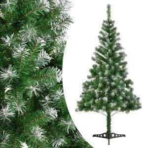 Eshopist Umelý vianočný stromček 120 cm zelená s umelým snehom vrátane stojanu