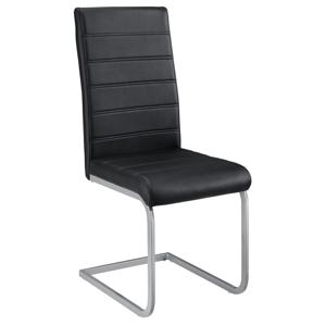 Eshopist Konzolová stolička Vegas sada 2 kusov zo syntetickej kože v čiernej farbe