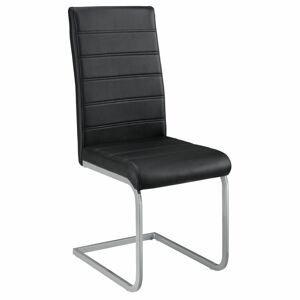 Eshopist Konzolová stolička Vegas sada 4 kusov zo syntetickej kože v čiernej farbe