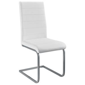 Eshopist Konzolová stolička Vegas sada 4 kusov zo syntetickej kože v bielej farbe